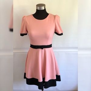 Pink and Black contrast A Line Dress Size: S